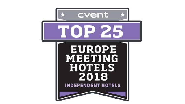 Award Badge to recognise the belfry hotel as one of the top 25 europe meeting hotels in 2018
