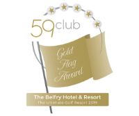 Award Badge to recognise the belfry hotel as having a gold flag awards from 59 Club