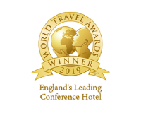 Award Badge to recognise the belfry hotel as England's Leading Conference Hotel in 2019