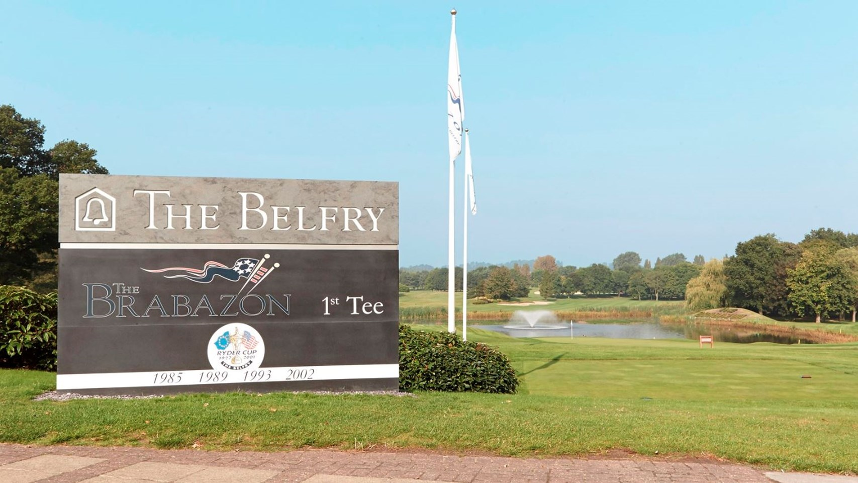 First tee of the Brabazon Golf Course at The Belfry
